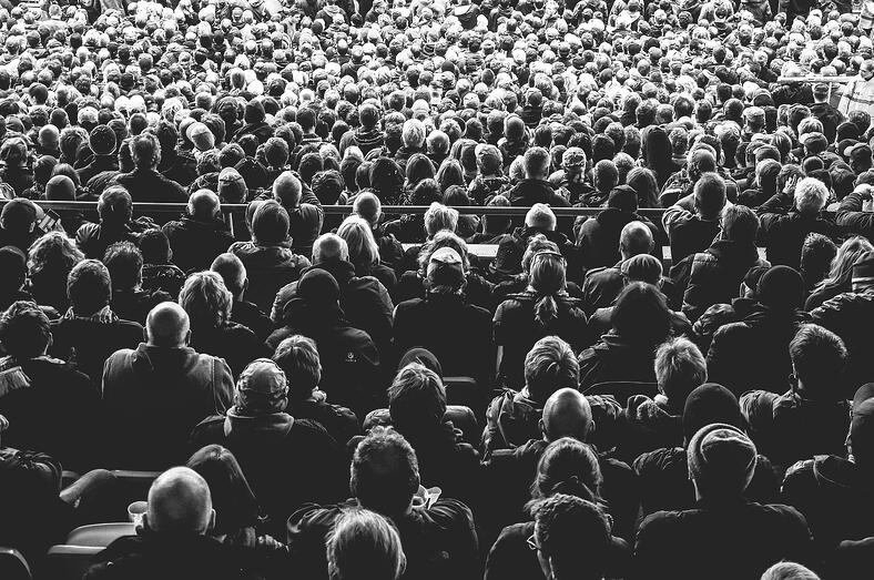 photo of dull audience